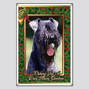 Kerry Blue Terrier Dog Christmas Banner