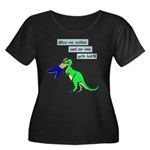 Give me coffee and no one gets hurt! Plus Size T-S