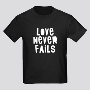 Love Never Kids Dark T-Shirt