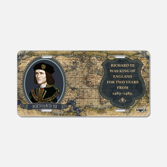 Richard III Historical Aluminum License Plate