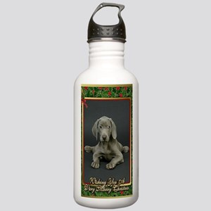 Weimaraner Dog Christm Stainless Water Bottle 1.0L