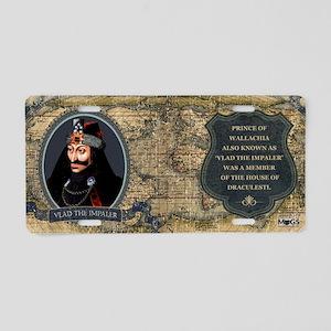 Vlad the Impaler Historical Aluminum License Plate