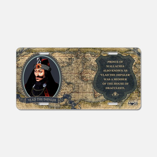 Vlad the Impaler Historical Aluminum License Plate