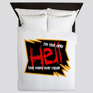 Only Hell-Johnny Paycheck Queen Duvet