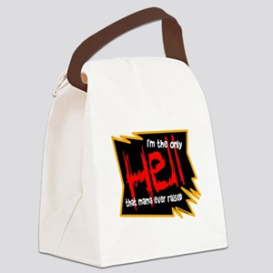 Only Hell-Johnny Paycheck Canvas Lunch Bag
