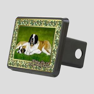 Saint Bernard Dog Christma Rectangular Hitch Cover