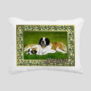 Saint Bernard Dog Christ Rectangular Canvas Pillow