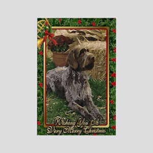 German Wirehaired Pointer Dog Chr Rectangle Magnet