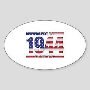 1944 Made In America Sticker (Oval)