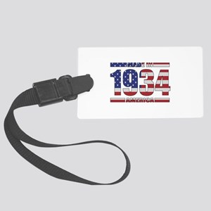 1934 Made In America Large Luggage Tag