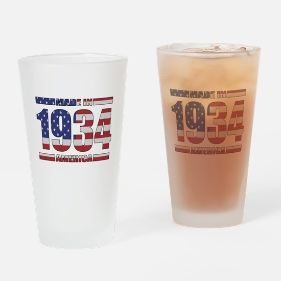 1934 Made In America Drinking Glass
