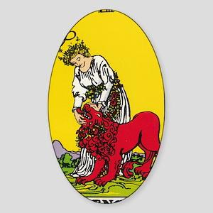 STRENGTH Sticker (Oval)