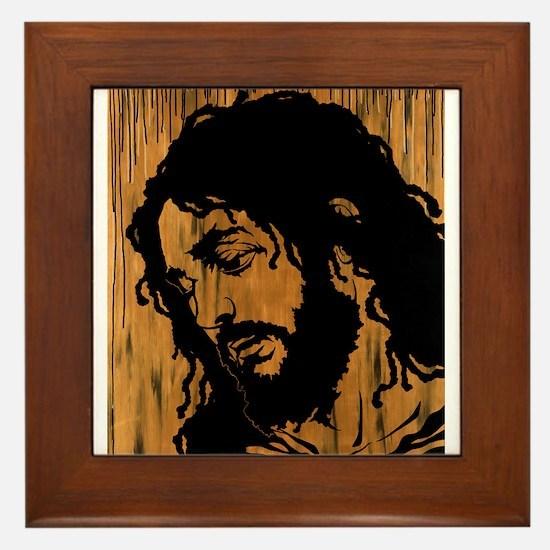 button test christ.png Framed Tile
