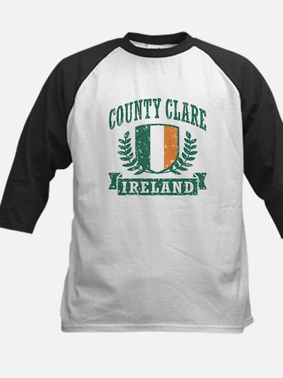 County Clare Ireland Kids Baseball Jersey