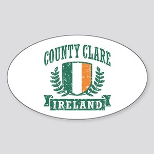 County Clare Ireland Sticker (Oval)