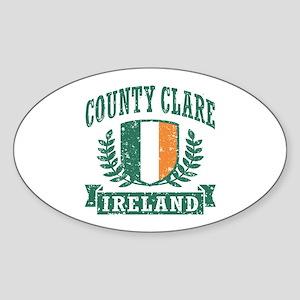 County Clare Ireland Sticker (Oval)