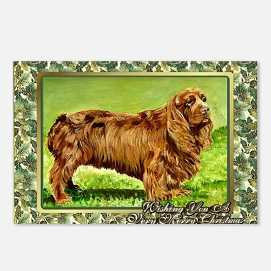 Sussex Spaniel Dog Christ Postcards (Package of 8)