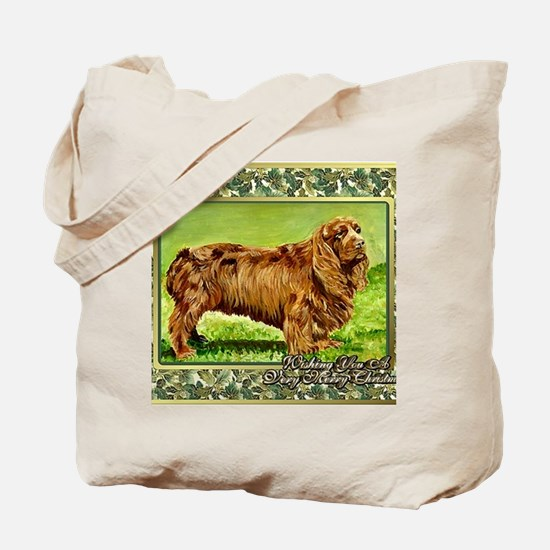 Sussex Spaniel Dog Christmas Tote Bag