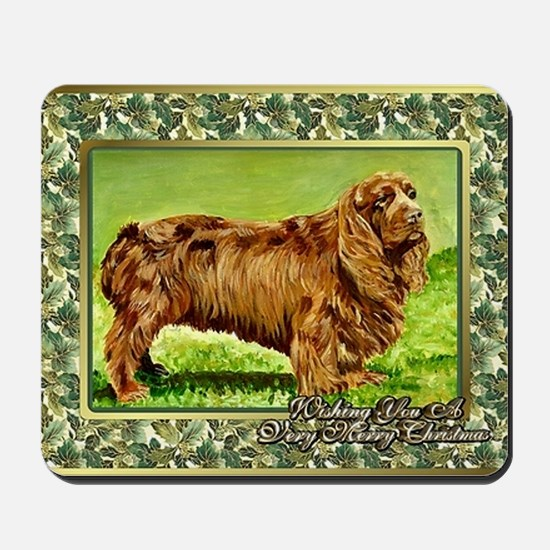 Sussex Spaniel Dog Christmas Mousepad