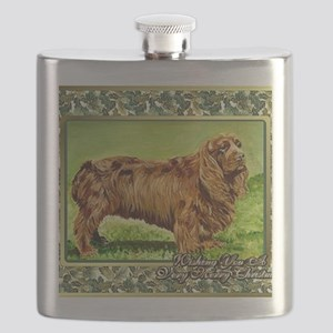 Sussex Spaniel Dog Christmas Flask