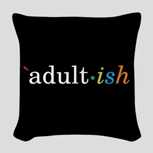 Adult-ish Woven Throw Pillow