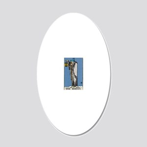 THE HERMIT TAROT CARD 20x12 Oval Wall Decal