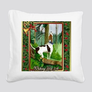 Treeing Walker Coonhound Dog  Square Canvas Pillow