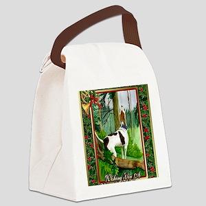 Treeing Walker Coonhound Dog Chri Canvas Lunch Bag