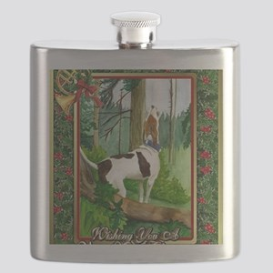 Treeing Walker Coonhound Dog Christmas Flask