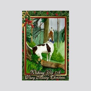 Treeing Walker Coonhound Dog Chri Rectangle Magnet