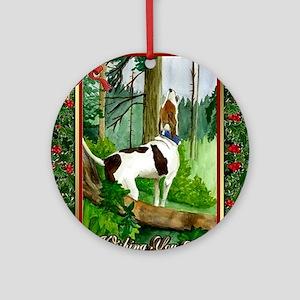 Treeing Walker Coonhound Dog Christ Round Ornament