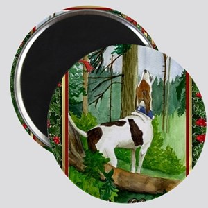 Treeing Walker Coonhound Dog Christmas Magnet