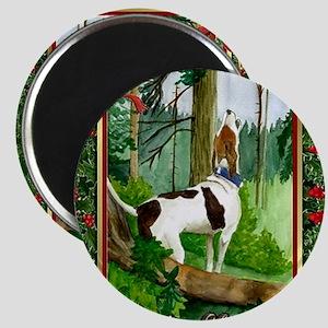 Treeing Walker Coonhound Dog Christmas Magnet