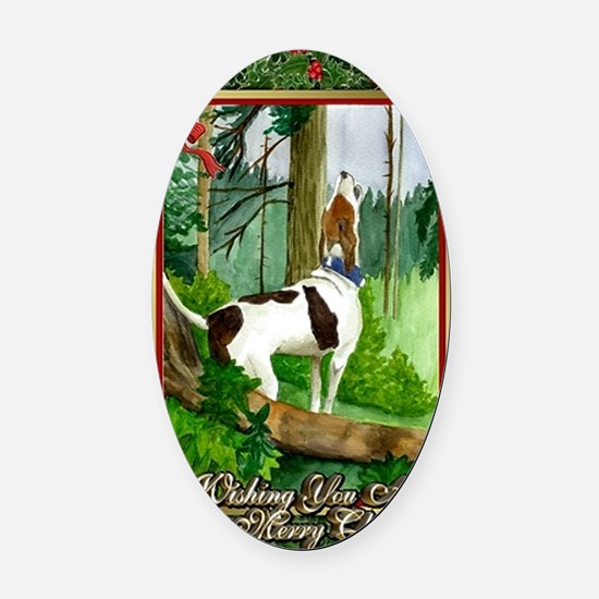 Treeing Walker Coonhound Dog Chris Oval Car Magnet