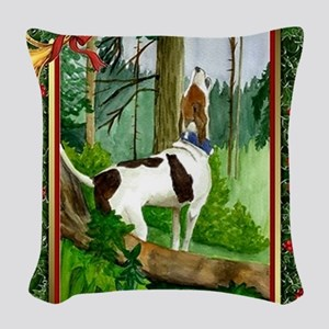 Treeing Walker Coonhound Dog C Woven Throw Pillow