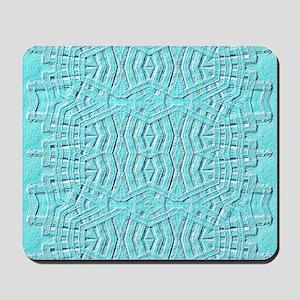 Chevron tribal blue tablet Mousepad