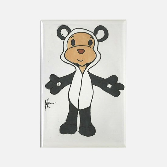 Cuddles as a Panda Rectangle Magnet