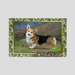 Welsh Corgi Cardigan Dog Christma Rectangle Magnet