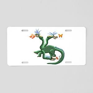 Three-Headed Dragon Aluminum License Plate