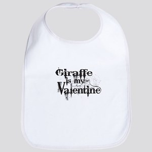 Giraffe is my Valentine Bib