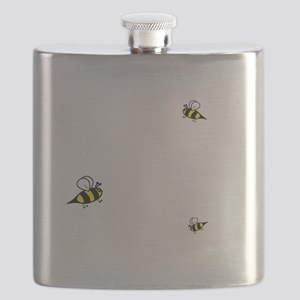 Keep Calm and Keep Bees Flask