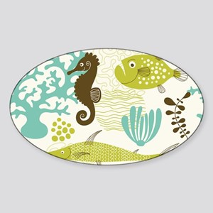 Sea Life Sticker (Oval)