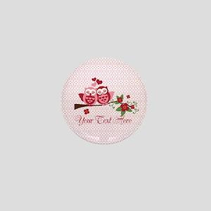 Owl Couple Love - Personalized Mini Button