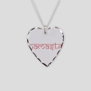 Namaste, Yoga Necklace Heart Charm