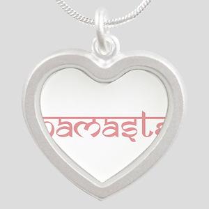 Namaste, Yoga Silver Heart Necklace