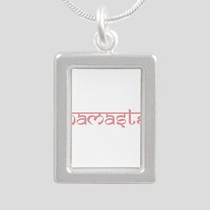 Namaste, Yoga Silver Portrait Necklace