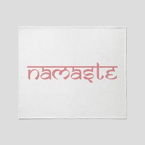 Namaste, Yoga Throw Blanket