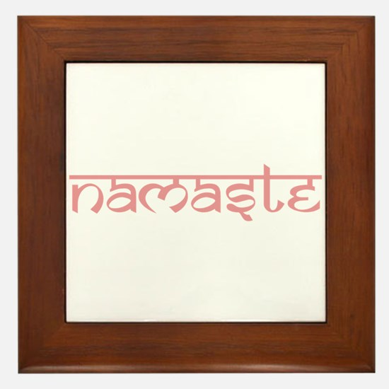 Namaste, Yoga Framed Tile