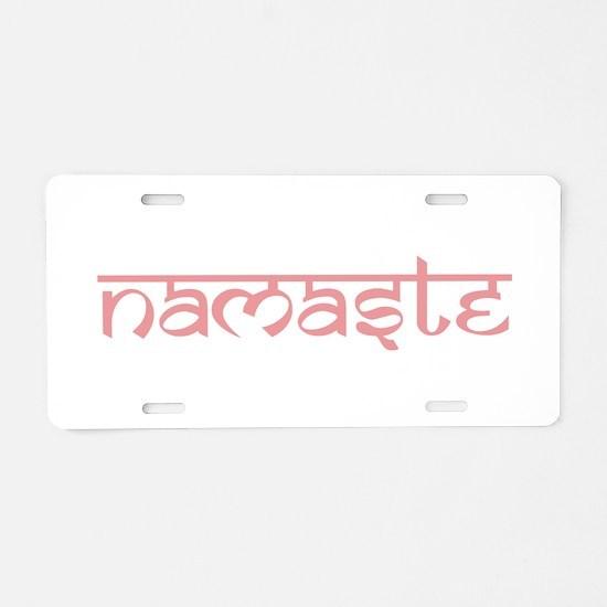 Namaste, Yoga Aluminum License Plate