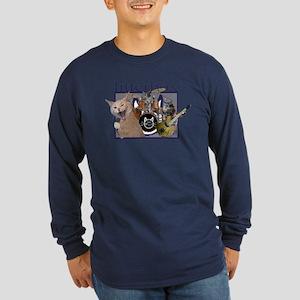 litterbox cat rock Long Sleeve Dark T-Shirt